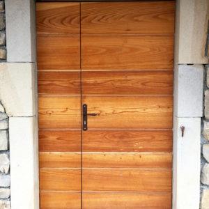 Porte D'entrée Dans Un Chalet à Fillinges